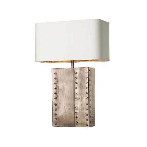 David Hunt Lighting, Riveted Rectangular Table Lamp Copper Base Only, RIV4364 (7-10 day Delivery)